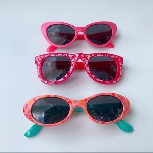 Cat /& Jack Girls Pink Frame Kid/'s Sunglasses
